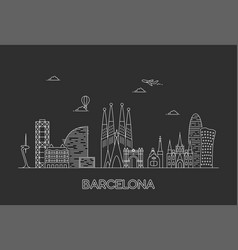 Barcelona city skyline vector