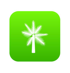Big palm tree icon digital green vector