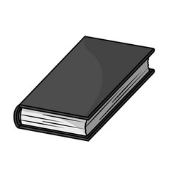 Black book icon in monochrome style isolated on vector