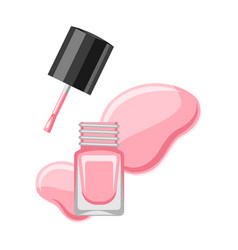 Bottle with nail polish vector