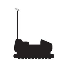 Bumper car silhouette vector