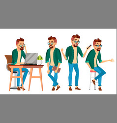 business man character hipster working man vector image