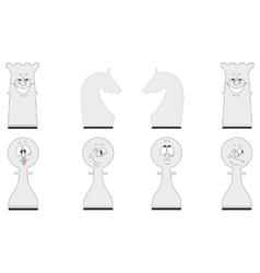 Cartoon chess set 04 vector