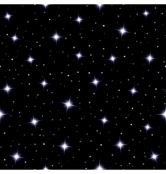 Celestial seamless background with sparkling stars vector