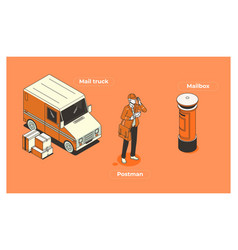 character postman postman vector image