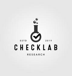 check laboratory verified vintage logo icon vector image