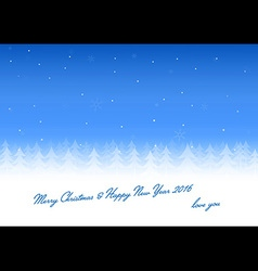 Christmas card love you vector image