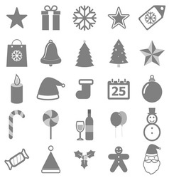 Christmas icons on white background vector image