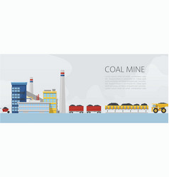 coal mine factory mining and vector image