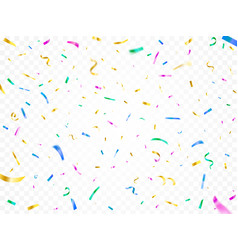 colorful falling confetti christmas festival vector image