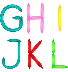 Colorful of alphabet vector image