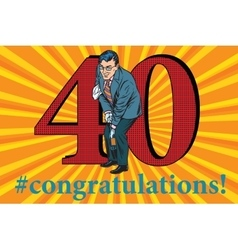 Congratulations 40 anniversary event celebration vector image vector image