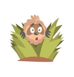 Cute cartoon astonished sloth character looking vector