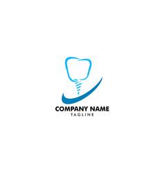 dental implant logo design element vector image