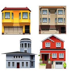 Different building designs vector image