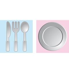 Dinnerware vector