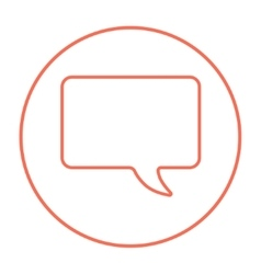Empty speech square line icon vector
