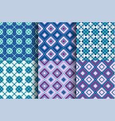 Ethnic seamless pattern cloth kente tribal print vector