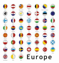 Europe round flags vector image