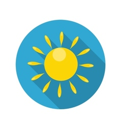 Flat Design Concept Sun Icon With Long Shado vector