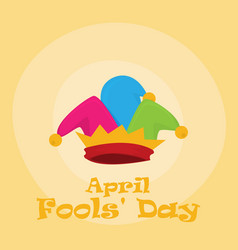 flat fools day vector image