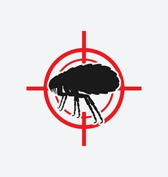 flea icon red target vector image vector image