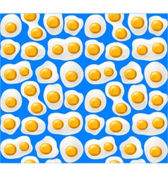Fried eggs Seamless background vector image