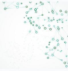 futuristic dna abstract molecule vector image
