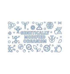 Genetically modified organism outline vector