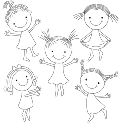 Girls smile vector