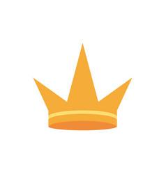 Gold crown monarch jewel royalty vector