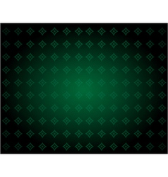 Green background with diamond shaped ornament vector