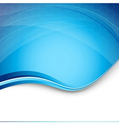 Hi-tech blue modern background template vector image vector image