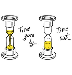 hourglass drawing time vector image
