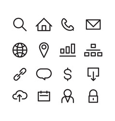 Icon web vector