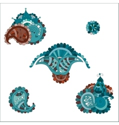 Indian paisley set vector