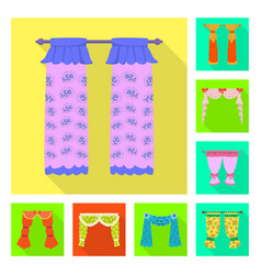 Isolated object curtains and drapes icon vector