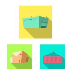 isolated object of goods and cargo icon vector image