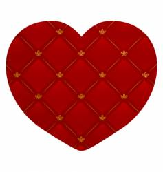 leather heart vector image
