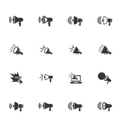 megaphone icons set vector image
