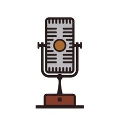 Microphone technology retro vintage icon vector