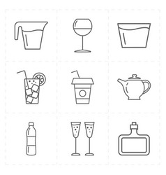Modern bar icons vector