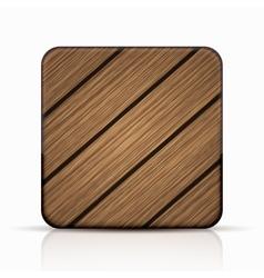 Modern wooden icon vector