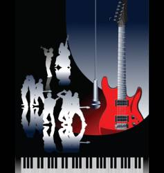 Piano guitar jazz vector