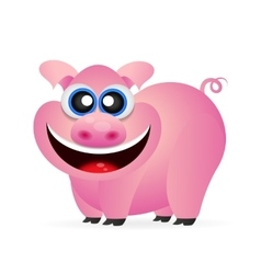 Pig funny vector image