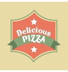 Pizza icon Fast food design graphic vector