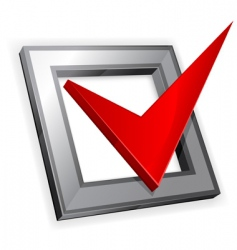 red checkmark vector image