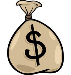 Sack of dollars clip art cartoon vector