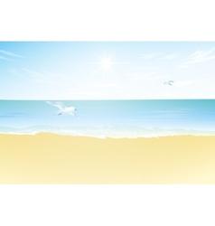 Seascape paradise beach vector