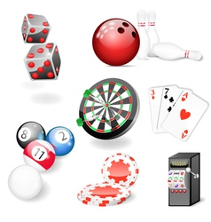 Set of casino and game elements vector image